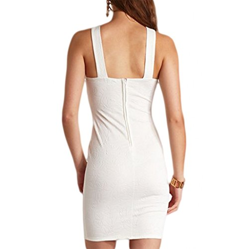 Waooh - Blumenmuster Kleid Lanmor Weiß