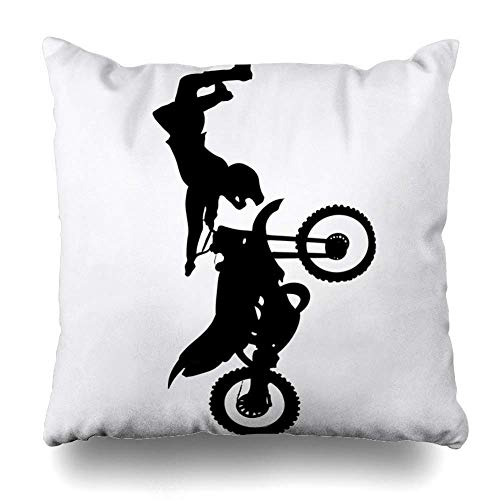 gatetop Dekokissenbezüge Chopper Dirt Sports Motocross Fmh Shadow Motorrad Freizeit Bike Freestyle Jump Motorrad Action Home Decor Kissenbezug Square Size 18