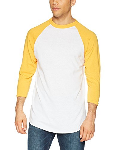 Augusta Herren Sportswear Baseball Jersey, Herren, Weiß/Gold, XX-Large
