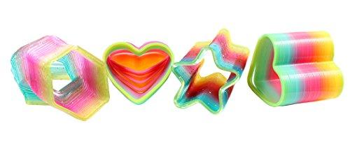 (Ranvi Klassische Neuheit Bunten Regenbogen Neon Kunststoff Frühling Spielzeug für Geburtstagsfeier Begünstigt, 4 Stück, Freiform)