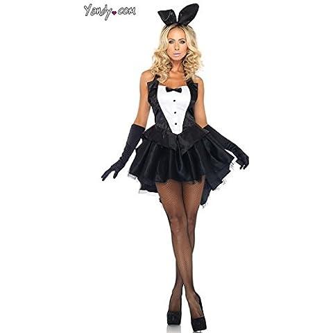 Tuxedo vestido de conejito ropa mago conejo disfraces de Halloween
