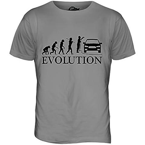 CandyMix Auto Valeter Evoluzione Umana T-Shirt da Uomo Maglietta