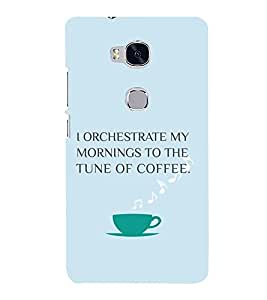 PrintVisa Coffee Quotes Design 3D Hard Polycarbonate Designer Back Case Cover for Huawei Honor 5X