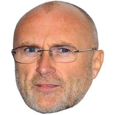 Preisvergleich Produktbild Celebrity Cutouts Phil Collins (2016) Maske aus Karton