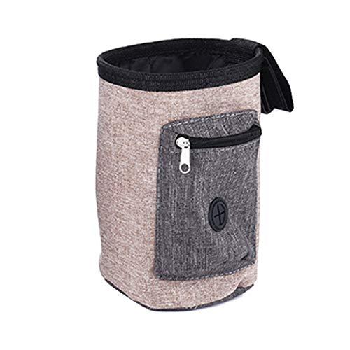 chenpaif Tasche für Hunde und Welpen, für Gehorsamkeitstraining, für Futter und Köder, Snacktasche, Rosa helles kaffebraun - Hell Rosa Futter