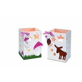 / Pebaro 848/1 kit modellazione in legno titolare della luce del tè con Elk design funghi