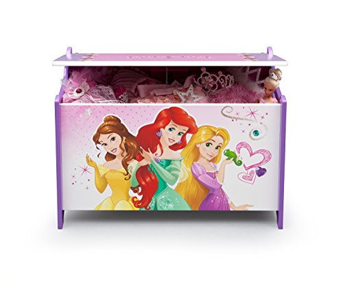 Disney Princess caja de juguetes de madera (rosa)