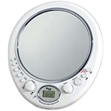 miroir de rasage ovale anti bue pyle avec radio am fm horloge et - Miroir Salle De Bain Antibuee Radio