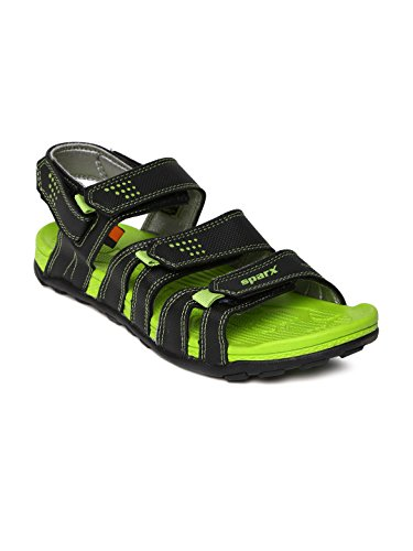 SPARX MEN BLACK GREEN SPORTS SANDAL 434 (7)  available at amazon for Rs.1091