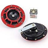 YIYIDA Eletric 12 V 135 dB Disc Typ Auto Hupe Super laut High und Low Twin Horn Kit mit Halterung...