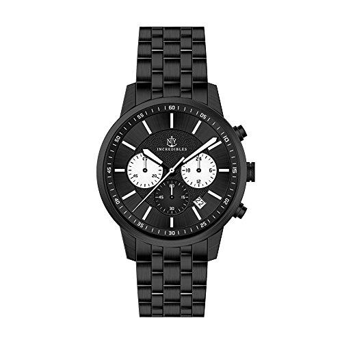 Uhr Freeman - Chronograph 42 mm schwarz Edelstahl Uhr für Männer