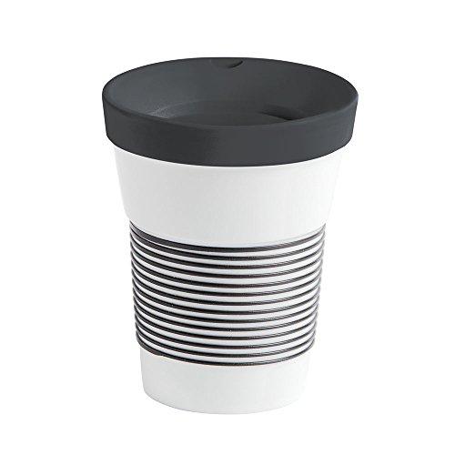 Kahla Coffee to Go Becher 0,35 l mit Deckel, Porzellan, Magie Grip anthrazit, 13 cm -