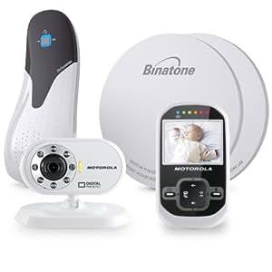 motorola mbp26 digital video monitor babysense bundle white black baby. Black Bedroom Furniture Sets. Home Design Ideas