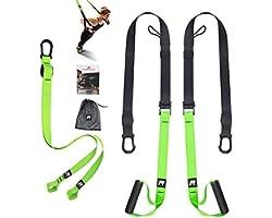RHINOSPORT Sling Trainer Kit de Musculation avec ancrage de Porte réglable Fitness Maison Suspension – Convient pour Les dépl