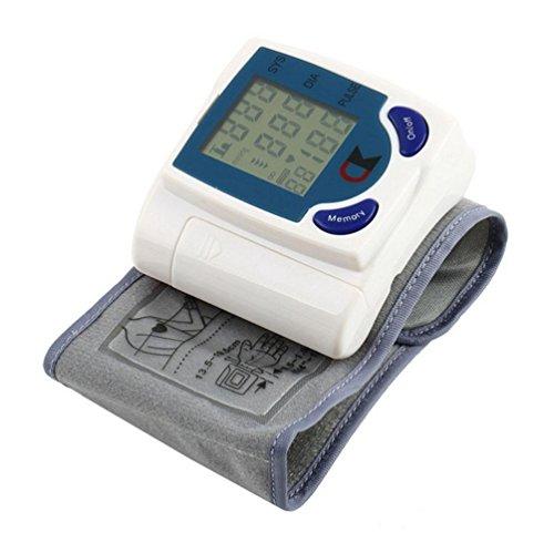 WAOBE Automatischer intelligenter Arm Elektronischer Digitaler Druckmesser Monitor Messung Gesundheitspflege Blutdruckmessgerät Funktion Haushalt Handgelenk Typ Elektronisches Sphygmomanometer, Weiß