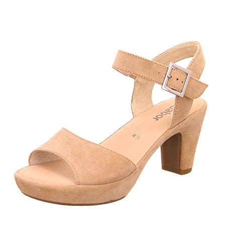 Gabor 45-751 Schuhe Damen Sandalen Plateau Sandaletten Weite F, Schuhgröße:39;Farbe:Beige