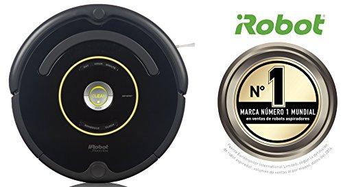 iRobot-Roomba-650-Robot-aspirador-potente-sistema-de-limpieza-con-sensores-de-suciedad-Dirt-Detect-aspira-alfombras-y-suelos-duros-atrapa-el-pelo-de-mascotas-programable-color-negro