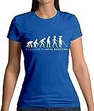 Dressdown Evolution of Woman - Metalldetektor - Damen T-Shirt - Royalblau - XL