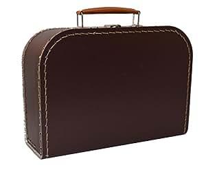 Koffer Pappe, braun, dunkelbraun, groß, 25cm, Pappkoffer