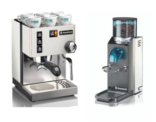 Rancilio Silvia Espressomaschine + Kaffeemühle Rocky S - Das günstige Rancilio-Sparpaket!