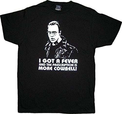 SNL Saturday Night Live Christopher Walken More Cowbell Schwarz T-Shirt (X-Large)