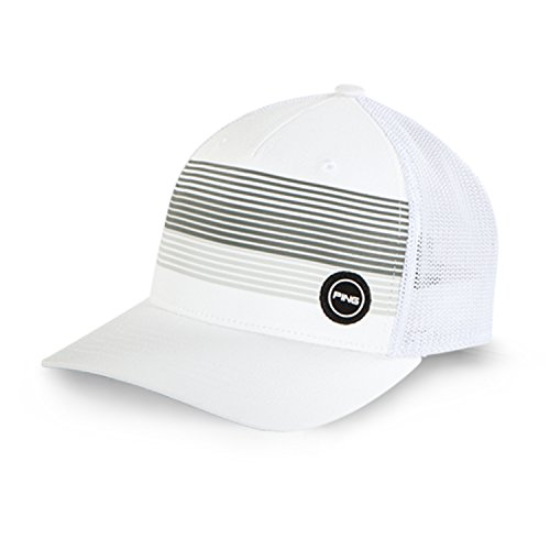 Ping Men's Golf Caps & Hats (Fitted Sport Mesh, White, L/XL)