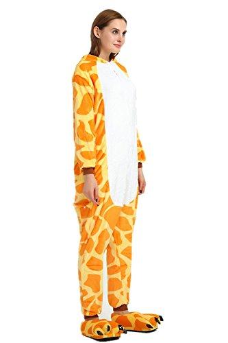 KiKa Monkey Flanella Unicorn Cartoon animali della novità di Natale Cosplay Pigiama Giraffa-2