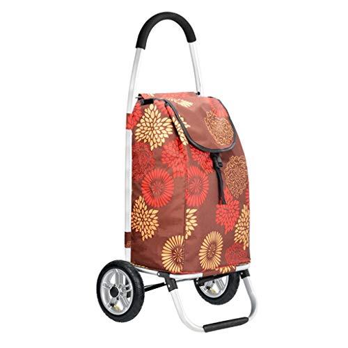 Yuan Einkaufstrolleys Einkaufswagen Einkaufswagen Warenkorb Oxford Bag Large Capacity Multifunktionswagen mit Rädern (Farbe : A)