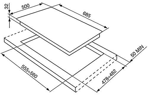 LogiLink SRV876PO integrierter Gaskochfeld Cremefarben - Platte (eingebaut, Gaskochfeld, Farbcreme, emailliert, 1050 W, 1650 W)