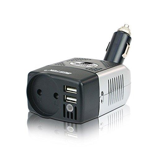 Mini Wechselrichter BESTEK Spannungswandler 150W DC 12V auf AC 230V mit USB, Zigarettenanzünder, EU