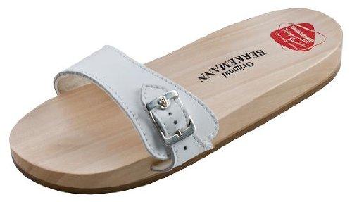 Berkemann Original Sandale, Unisex-Erwachsene Pantoletten, Weiß (weiß 100), 40 2/3 EU (7 UK) -