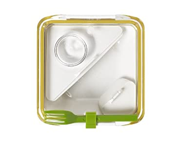 Lunch box Black & Blum - blanc et jaune