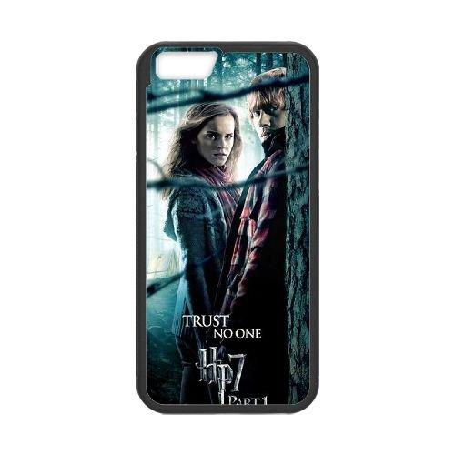 Deathly Hallows coque iPhone 6 Plus 5.5 Inch Housse téléphone Noir de couverture de cas coque EBDXJKNBO11310