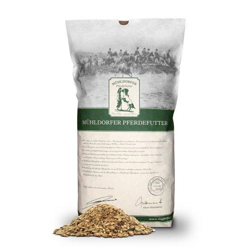 Mühldorfer Bio Futter für Sport- und Freizeitpferde, Appetit- und stoffwechselanregend, BIO-Mash & Kräuter, 15 kg
