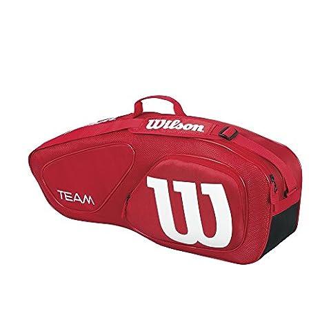 Wilson Erwachsene Sportsack Team II 9PK Bag RD, Rot, 76 x 12.7 x 31.7 cm, 31 Liter, 0887768377694