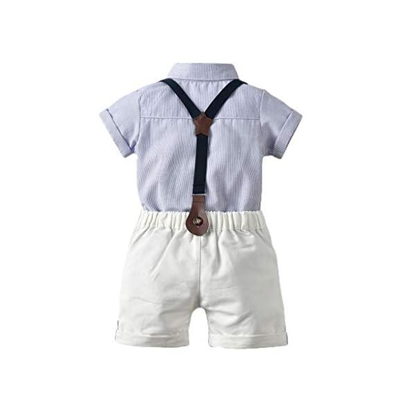 Ropa Bebé Niño Verano, K-youth Conjunto de Ropa para Niños Bautizo Ropa Bebe Recien Nacido Niño Camiseta Mangas Corta… 3