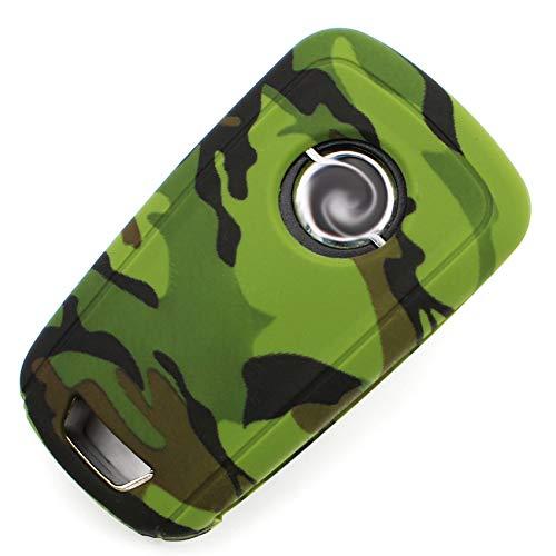 Schlüssel Hülle Silikon OC für 3 Tasten Auto Schlüssel Folien Cover - Finest-Folia (Camouflage)