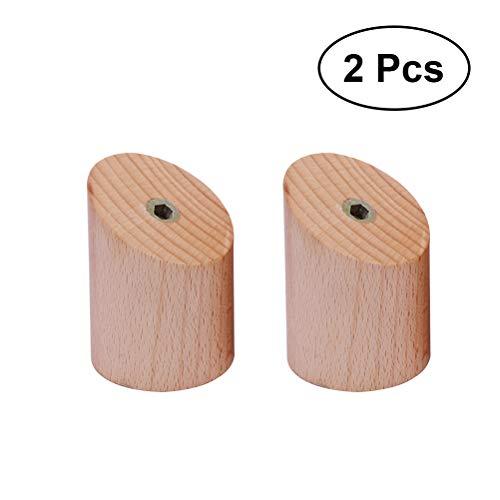 Ounona 2 pz appendiabiti da parete in legno naturale appendini da parete appendiabiti da parete appendiabiti da parete appendini decorazione della casa (legno di faggio)