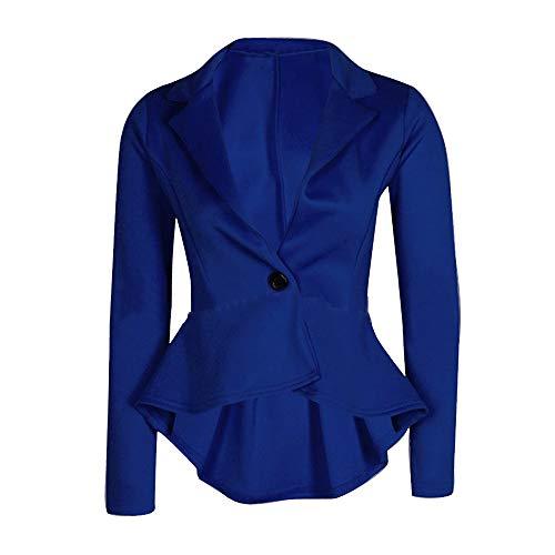 Isshop Tops für Damen New Suit Slim Ruffle Polyester für Frauen Joker Jacke Anzug Slim Business Style S-XXL -