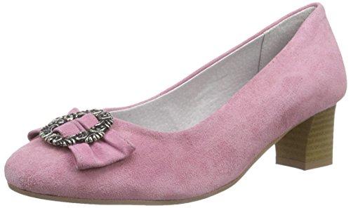 Bergheimer Trachtenschuhe Rosi Damen Pumps Pink (Rose)