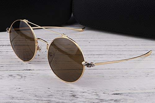 Hip-Hop-Prinz Spiegel Liebhaber den Stil beleben alte Bräuche die Sonnenbrille der Sonnenspiegel Runde Flut die großen Rahmen Gläser der Person Männer und Frauen