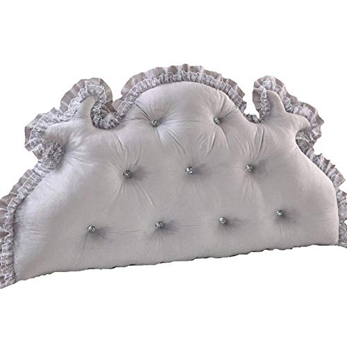 WDOPZMS Durable Cotton Linen Nachttischkissen Cotton Bed Große Rückenlehne Kissen Taille Tatami Bett Kissen Zurück Double Long Cushion 200cm (Color : Gray, Size : 200 * 70cm) -
