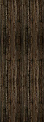 Queence | Premium-Tapete | selbstklebend | Fototapete XXL | Vinylfolie| Tapetenfolie| Wandtapete | \'Dunkles Holz\' | Größe: 90x250 cm