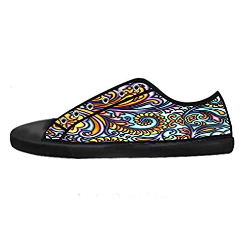 Dalliy Paisley Colored Print Men's Canvas Shoes Lace-up High-top Footwear Sneakers Chaussures de toile Baskets