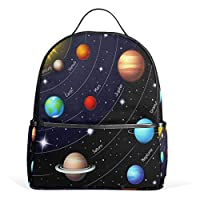 Funnyy Kids Backpack Educational Star Planet Universe Space School Shoulder Bag for Girls Boys Child Teen