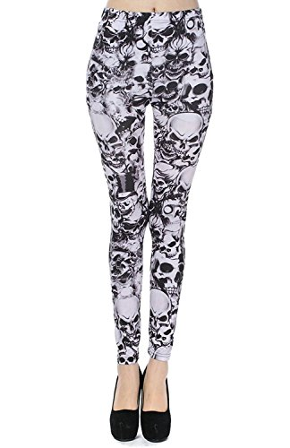 69be76a37627 Alive Damen Leggings One size Totenkopf