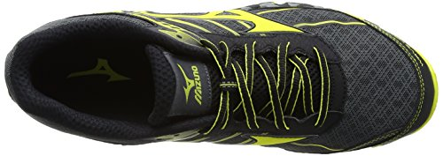 Mizuno Wave Hayate, Chaussures de Running Homme Multicolore (Dark Shadowboltblack)