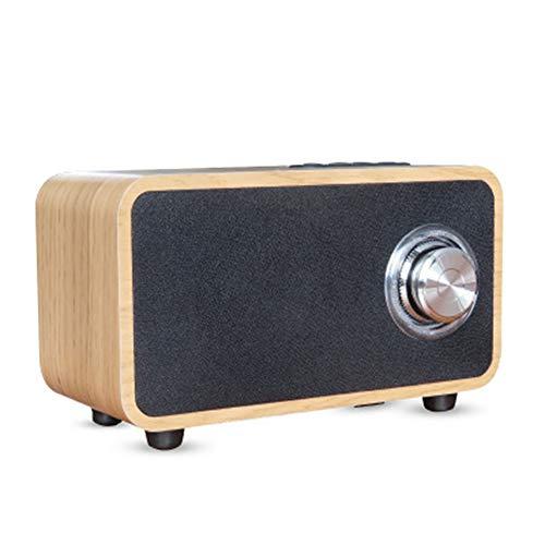 BAIYI Wooden Bluetooth Lautsprecher Retro Wireless Portable Stereo Sound System Super Bass wiederaufladbare Batterie HD Audio Qualität,Lightwood (Ganzen Haus Stereo-system)