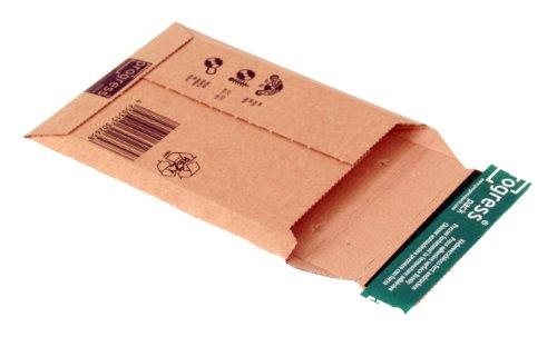 progressPACK Disk-Pack Versandtasche Premium PP W01.00 aus Wellpappe für 1-2 CDs, 145 x 190 x bis 25 mm, 25-er Pack, braun