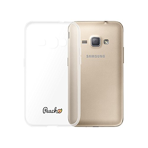 Peach Coque Samsung Galaxy J1 2016 en silicone souple Transparent ultra résistant